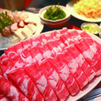 北海しゃぶしゃぶ鍋食べ放題120分3850円(税込)