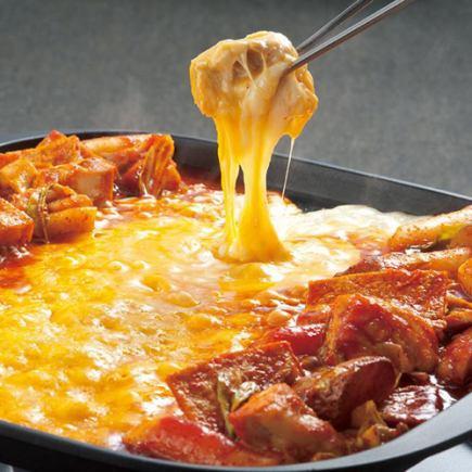 3時間飲み放題♪チーズタッカルビ、ローストビーフなど選べる3種食べ放題ご宴会10品3980→2980円