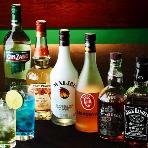 渋谷でご宴会におすすめ!約60種類の飲み放題メニュー