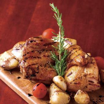 ローストチキンのロースマリー風味《Rosemary roasted chicken》