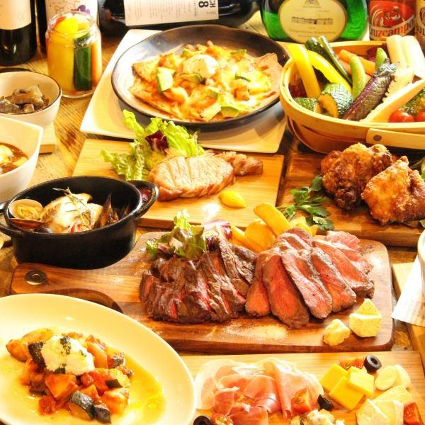 サンフィッシュキッチン大人気のパーティーコースは飲放付3500円~★