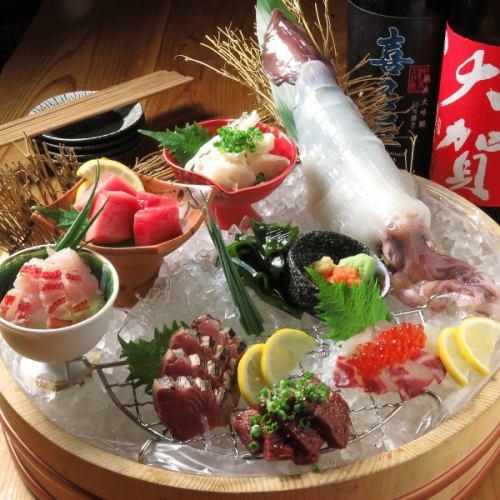 長浜・姪浜市場直送!!≪鮮魚お刺身盛り合わせ≫