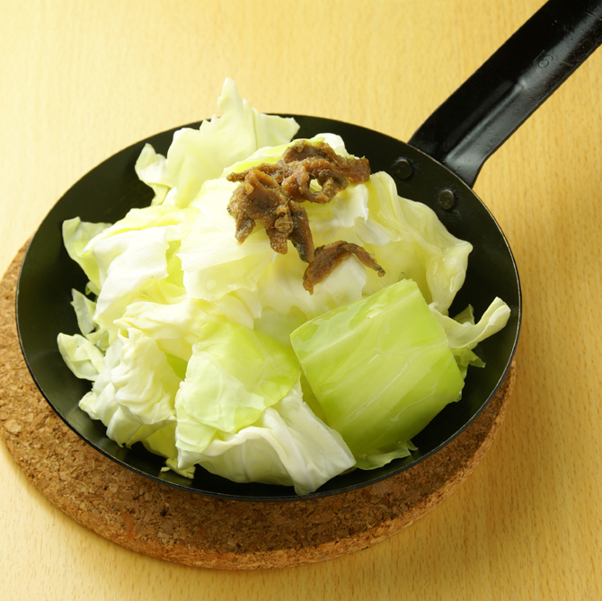 Salt anchovy cabbage