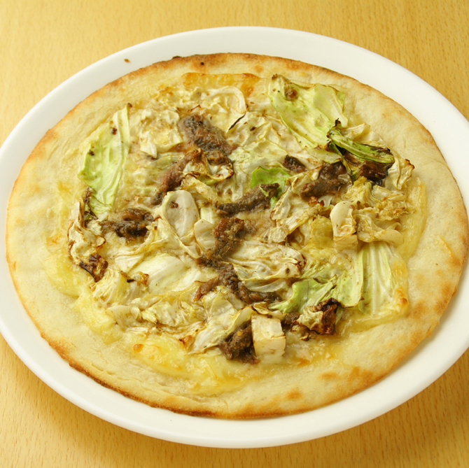 Anchovy and cabbage pizza (S / M)
