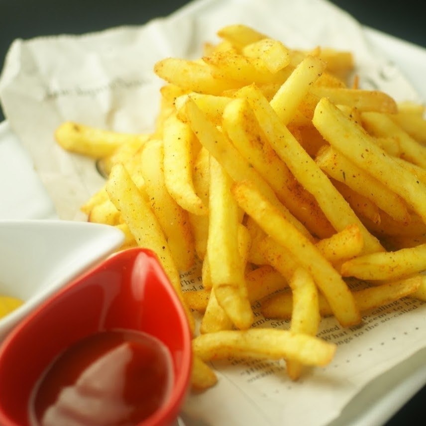 French fries - seven different spice flavors