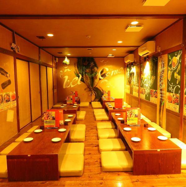 【大崎宴會:4至50人】店內充滿了平靜。寬敞,無與倫比的Osami座位非常適合4至50人的宴會!輕鬆移動1層,對秘書來說也很方便。