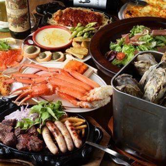 所有10件商品2小时所有你可以吃北海道享受套餐5500日元⇒<到12月下旬的预订!> 5000日元