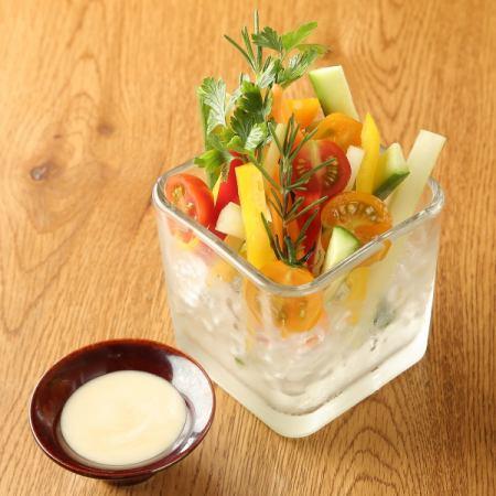 彩野菜のディップ