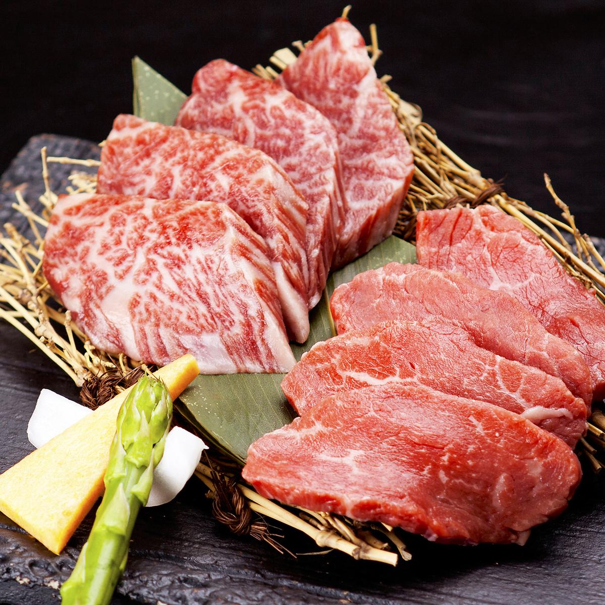 和牛牛肉上有丰富的烤肉