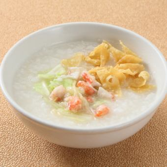 Porridge with seafood