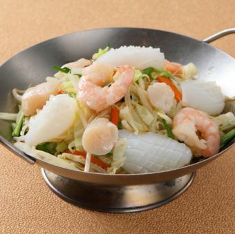 Seafood fried rice vermicelli