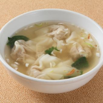 Handmade won tan soup
