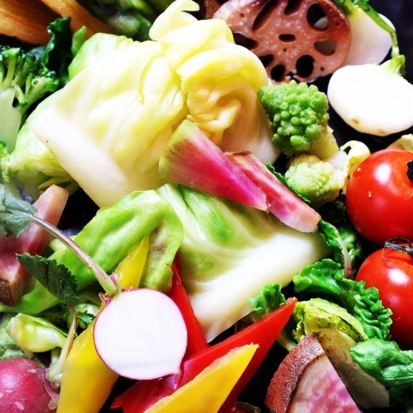 質重視!!あっさり楽しみたい女子会にも◎ご当地野菜のバーニャカウダー女子会コース