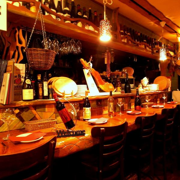 Boast Boast Board Counter ☆ Enjoy a meal and a drink slowly with one person Good friends at a couple! Because the front of the house is an open kitchen, a good fragrance of ingredients will come ♪