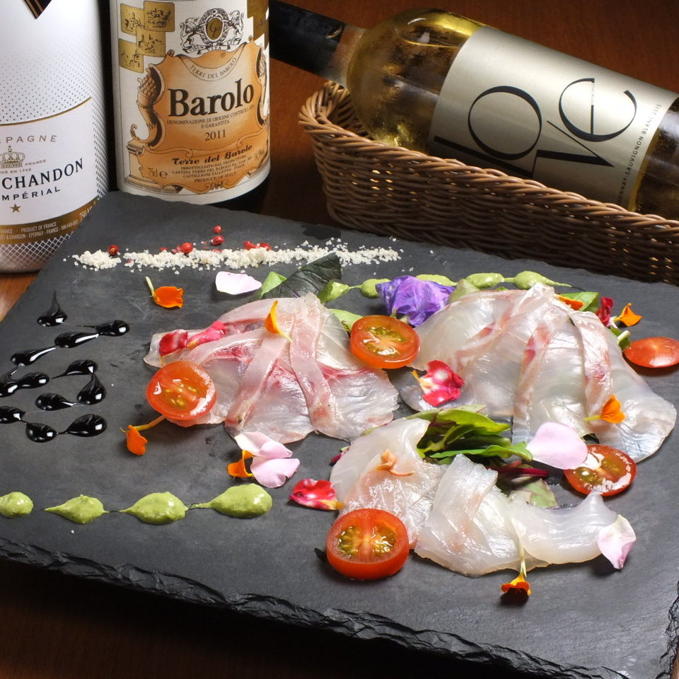 Special selection carpaccio directly to Shimane prefecture fishing port