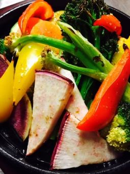 Seasonal vegetable grill ~ smoked vinaigrette dressing ~