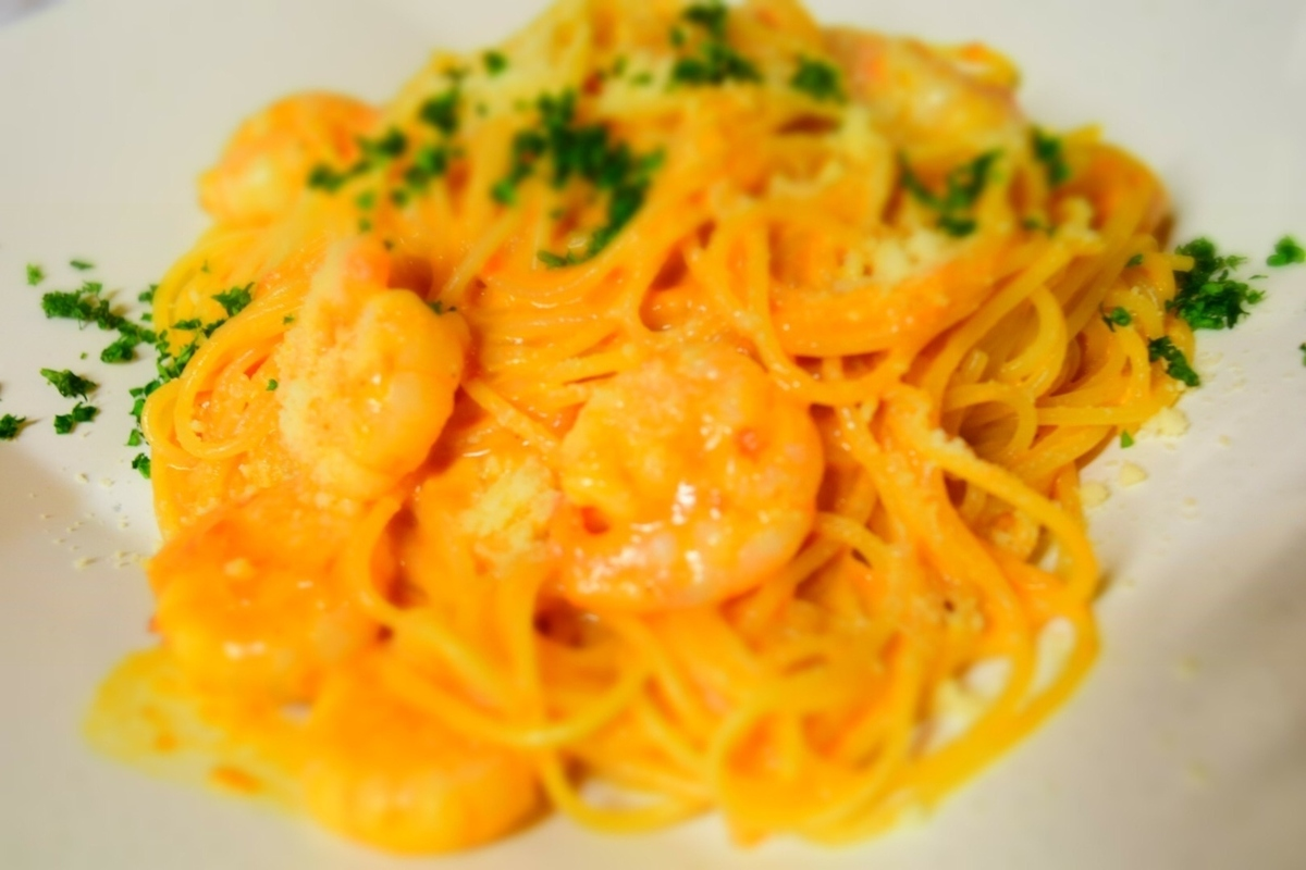 Puri Shrimp Tomato Cream Spaghetti