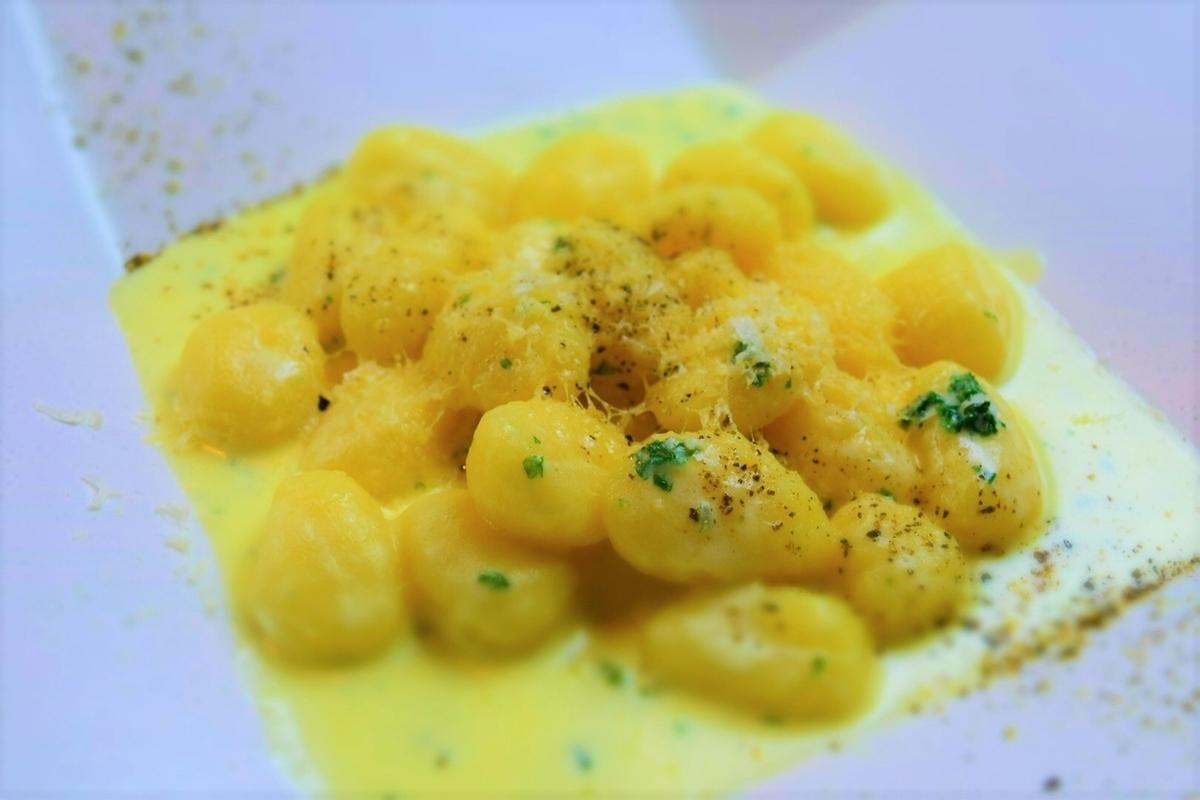 Seven kinds of cheese cream gnocchi