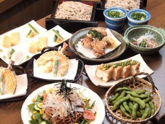 ◆只是一個飲料套餐◆靜岡的全友暢飲2小時!共10件用蕎麥3500日元(含稅)!