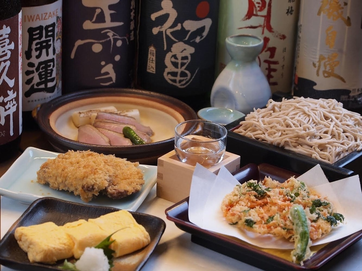 Cooking with local ingredients and local sake