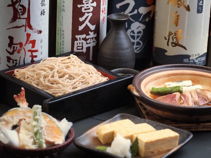 In the evening a little sweet at a soba restaurant ♪ Enjoy the buckwheat noodles, buckwheat noodle experience etc. [Soba pub]