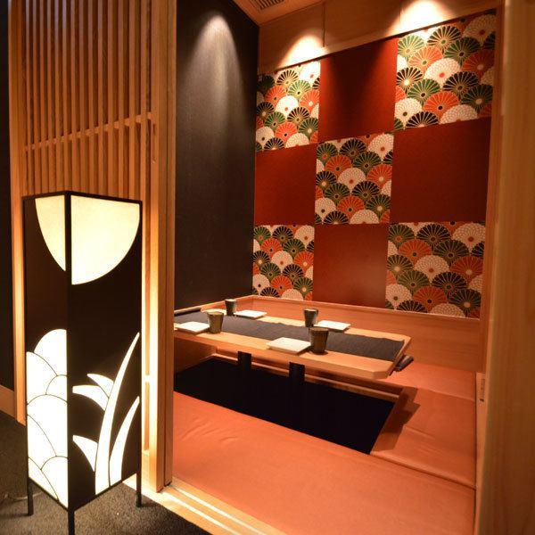 【全座位私人房间】适合公司宴会♪♪平静的日式现代私人房间可容纳小型聚会♪毫无疑问,各种大小房间都能找到适合您需求的座位!我们正在等待员工专注于使用我们受欢迎的空间和店内氛围