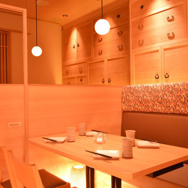 【All-Seats Private Room Space】 Prepared for up to 40 people ♪ ♪ Calmly Japanese Modern Private Room can accommodate a small party ♪ There are no doubt that a variety of large and small rooms will be able to find a seat to meet your wishes! Relaxed We are waiting for staff to concentrate on the use of our popular spaces and atmosphere in the shop.