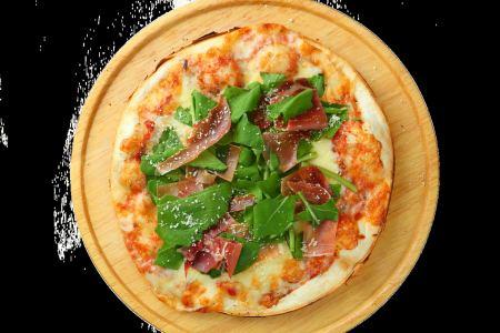 比薩火腿和芝麻菜