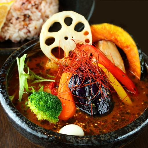 【Recommended】 Your favorite soup curry and vegetable buffet course 2500 yen