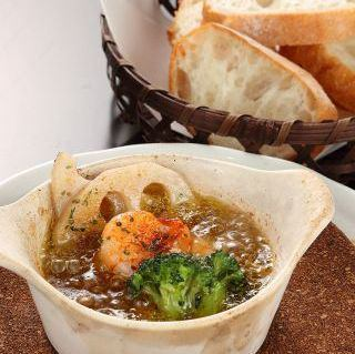 Ahijo蝦和蘑菇