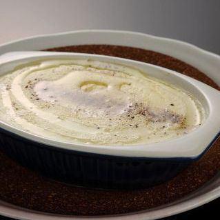 Mashed potato white truffle flavor
