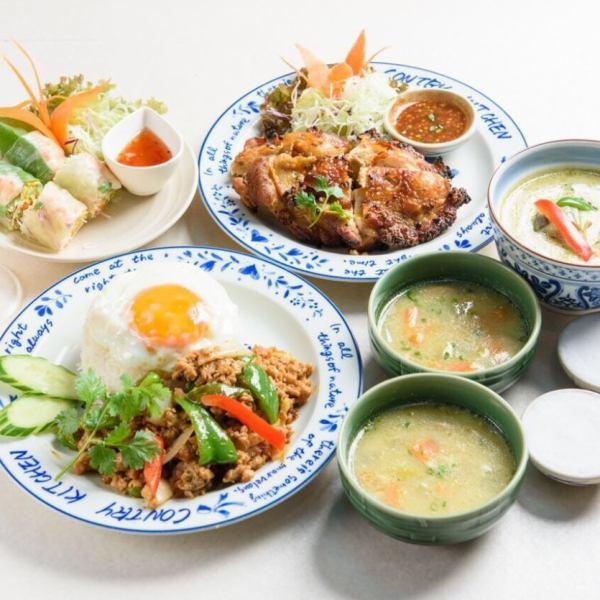 【20種類以上♪】彩り豊かなタイ料理♪ ロイヤルタイコンボ:1290円(税込)