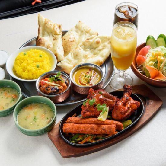 【スパイス&ハーブ香る!】タイ料理とインド料理どちらも楽しめる!
