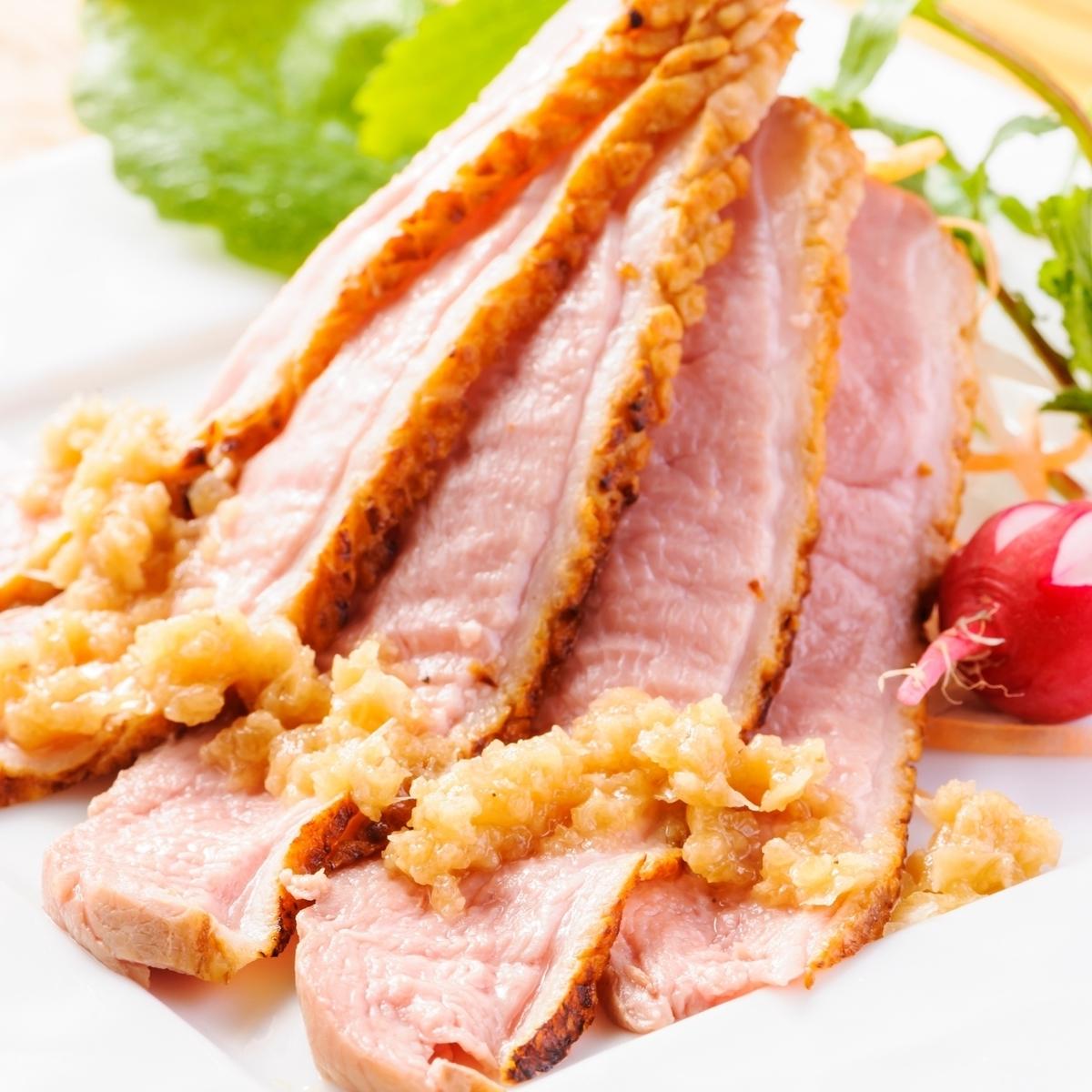 豚ロースのネギ炙り焼き
