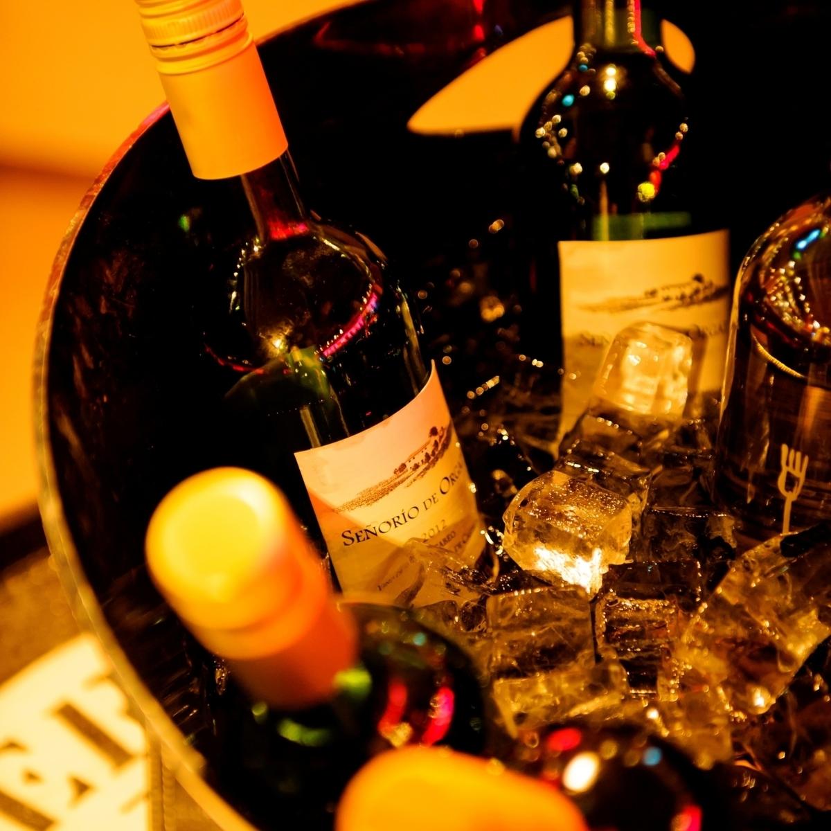 ワインの種類も豊富★