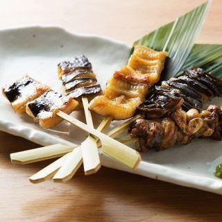 鰻の串焼き盛り5本