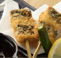 Two eel spoon skewers