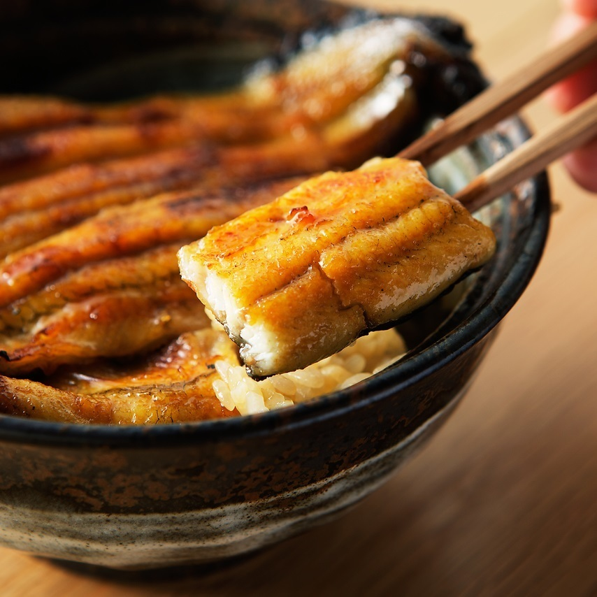 Grilled eel with rice dish (with soup stock and cucumber shallow pickle)