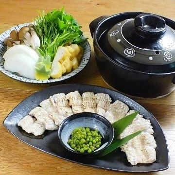 You can choose from two kinds [eel shabu-shabu]