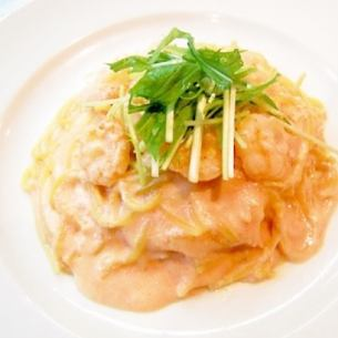 Roe cream sauce of small shrimp