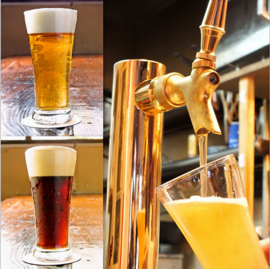 "Our finest premium unfiltered beer! ""Augusubiru"" 580 yen ~"
