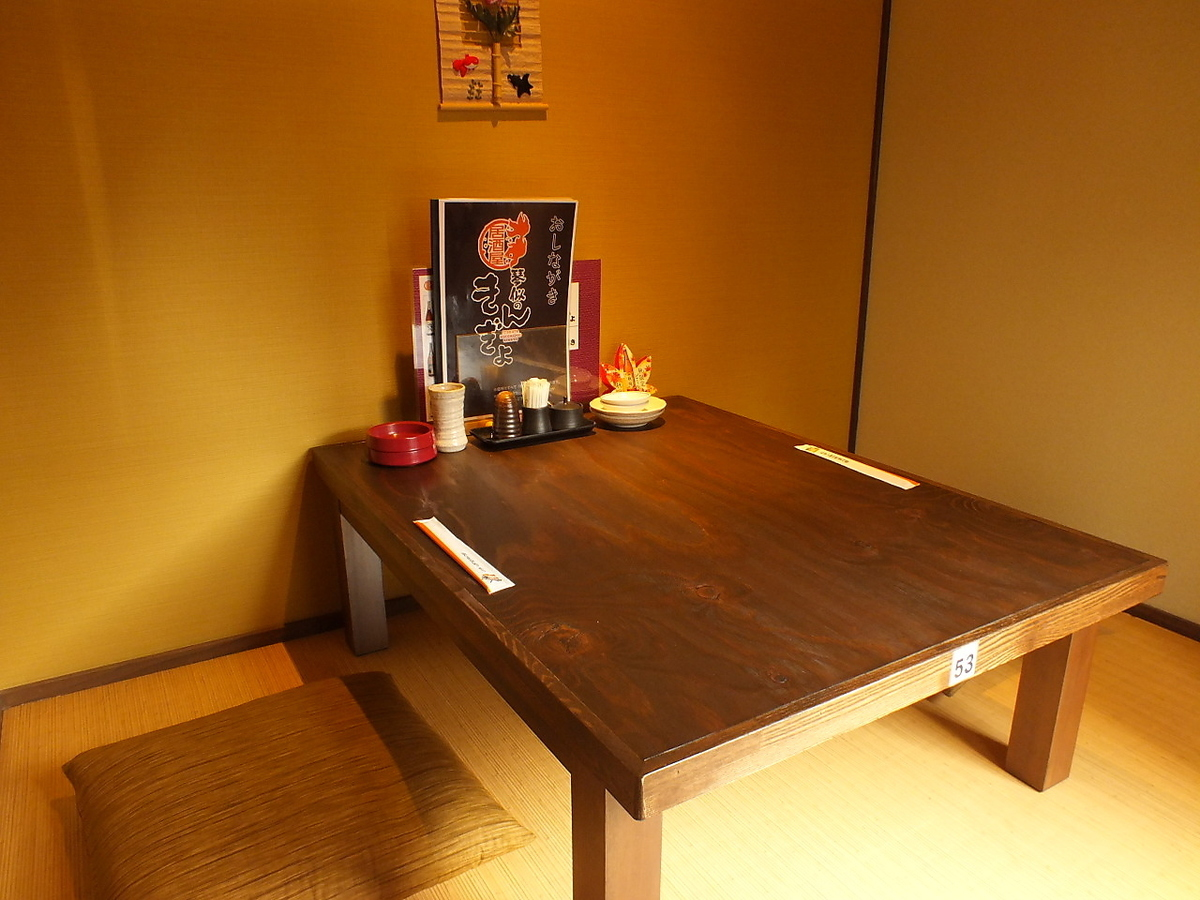 【2nd Floor】 There is also private room for 2 people ☆ Attractive of Kinpyo that can respond to various people.
