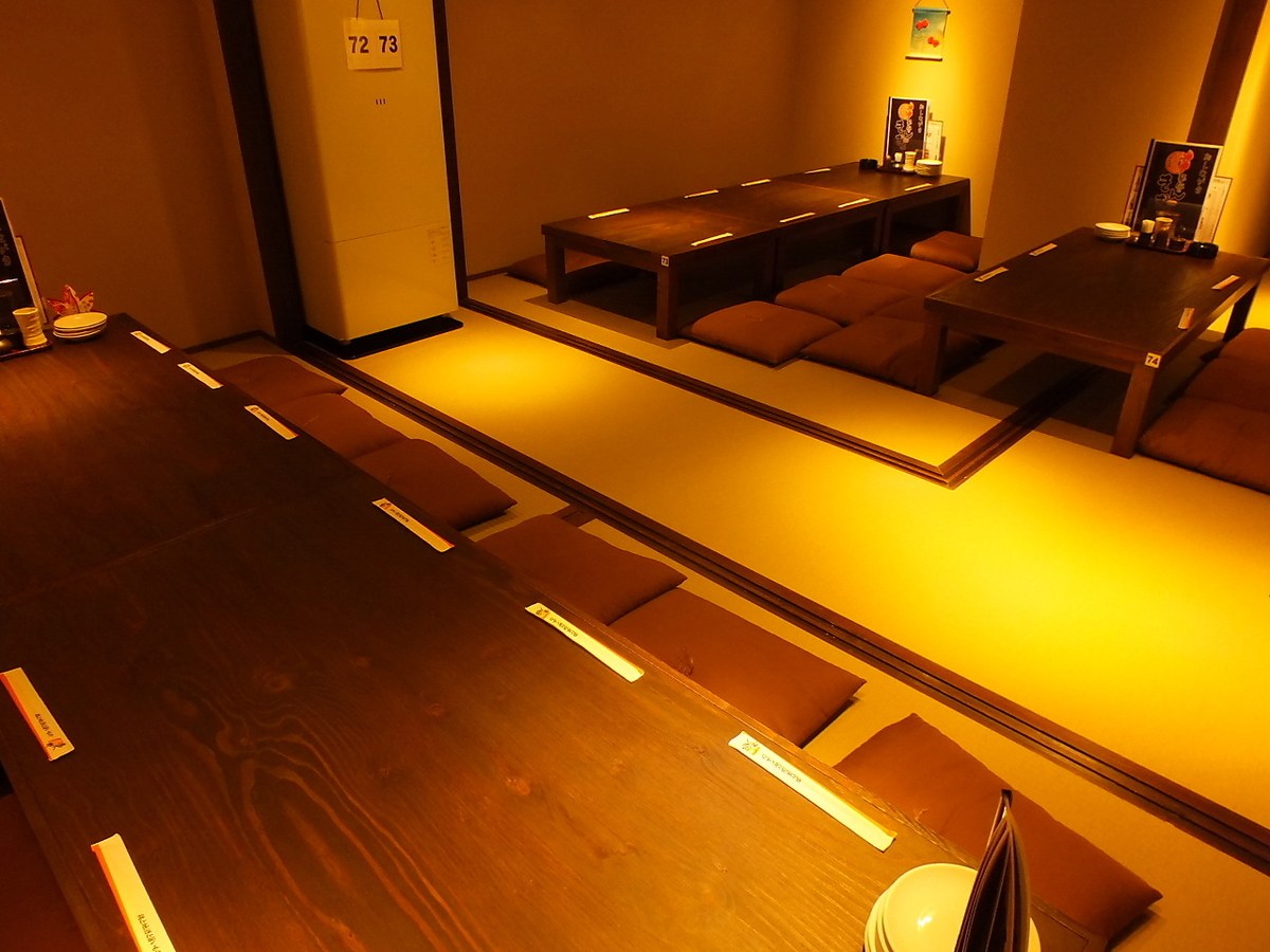 【2nd Floor】 Osaki Private Room can be connected! It is possible to accommodate up to 22 banquets at maximum! Because you can secure a place to put bigger luggage, you can use it extensively!
