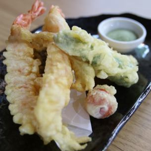 5 kinds of tempura