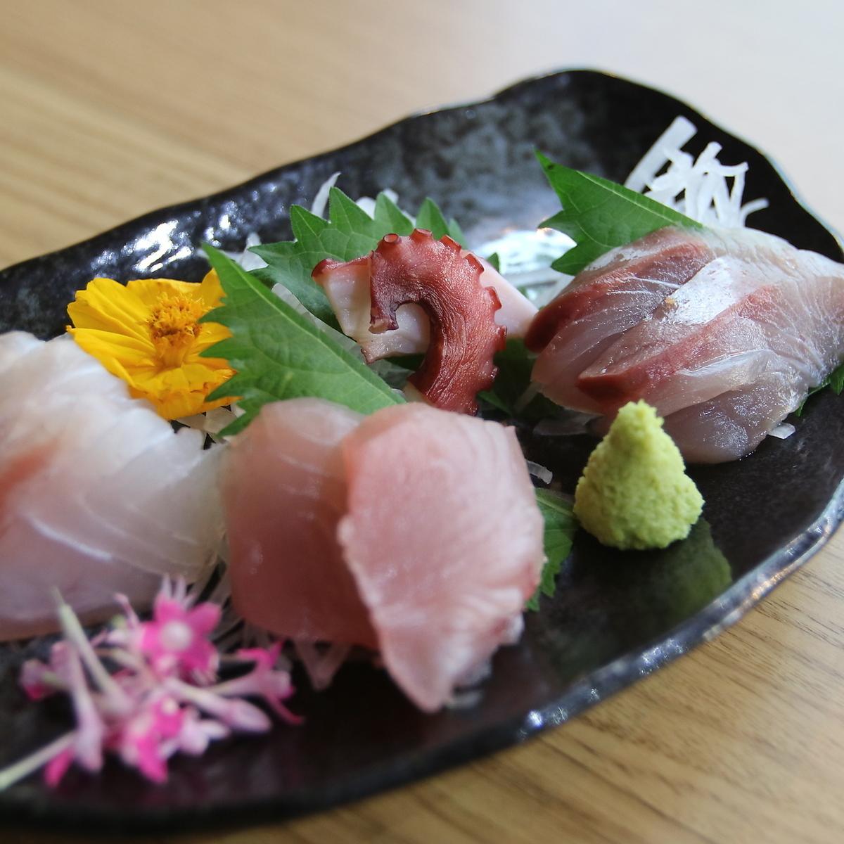 今天的生魚片(4種生魚片)
