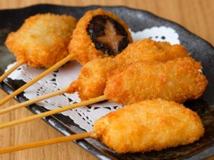 Kushikatsu 5 sperm Five types of skewer cutlets