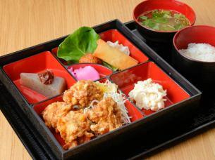 艾蒿壽司深煎雞肉套餐