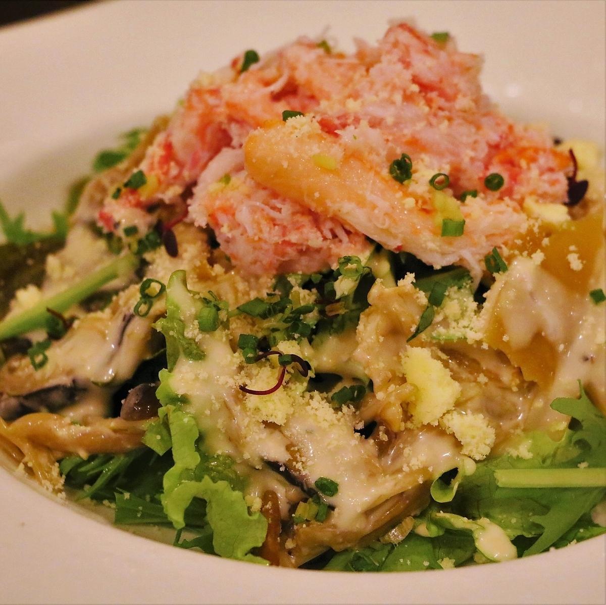 【旬】ずわい蟹シーザーサラダ