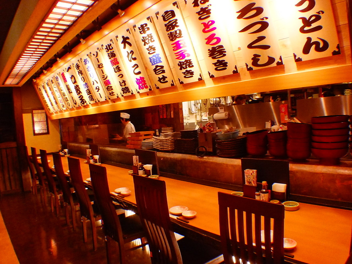 There is a live feeling! The counter seat where you can see the cooking appearance is preeminent atmosphere as well ★