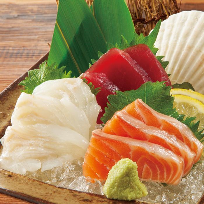 今天的生魚片3個